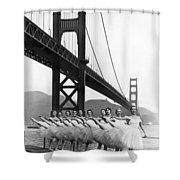 Golden Gate Bridge Ballet Shower Curtain