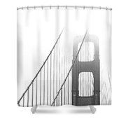 Golden Gate Bridge Shower Curtain by Ben and Raisa Gertsberg