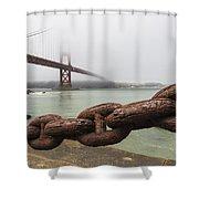 Golden Gate Bridge Chain Shower Curtain