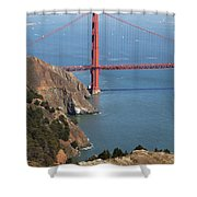 Golden Gate Bridge II Shower Curtain by Jenna Szerlag