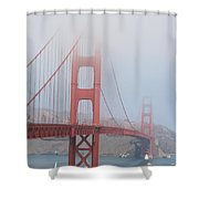 Golden Gate Bridge In Fog Shower Curtain