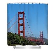 Golden Gate Bridge In Spring Shower Curtain
