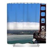 Golden Gate Bridge Looking South Shower Curtain
