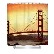 Golden Gate Bridge San Francisco California Shower Curtain