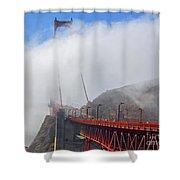 Golden Gate Bridge San Francisco California Shower Curtain
