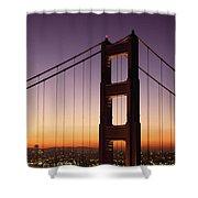 Golden Gate Bridge Sunrise From Marin Shower Curtain