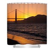 Golden Gate Bridge Sunset Shower Curtain