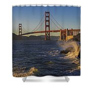 Golden Gate Bridge Sunset Study 2 Shower Curtain