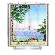 Golden Gate Bridge View Window Shower Curtain