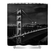 Golden Gate Evening- Mono Shower Curtain