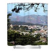 Golden Gate From Buena Vista Park Shower Curtain