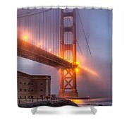 Golden Gate In Fog Shower Curtain