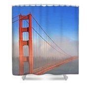 Golden Gate In Morning Fog Shower Curtain