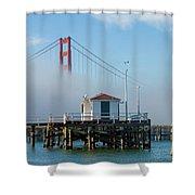 Golden Gate In The Fog Shower Curtain