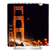 Golden Gate Night Shower Curtain