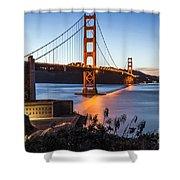 Golden Gate Night Shower Curtain