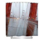 Golden Gate Rain Shower Curtain