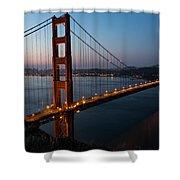 Golden Gate Sunrise Shower Curtain