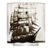Golden Gate Tall Ship Circa 1905 Shower Curtain
