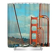 Golden Gate Walkway Shower Curtain