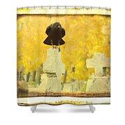 Golden Gothic Shower Curtain