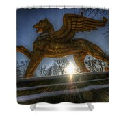 Golden Griffin Shower Curtain