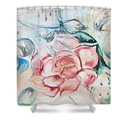 Golden Happy Times Shower Curtain