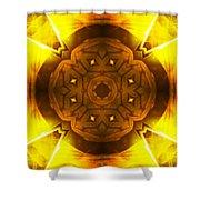Golden Harmony - 2 Shower Curtain