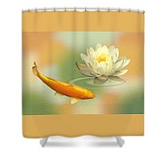 Golden Harmony Dreamscape Shower Curtain