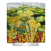 Golden Hedge Shower Curtain