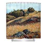 Golden Hills Shower Curtain