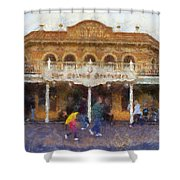 Golden Horseshoe Frontierland Disneyland Photo Art 02 Shower Curtain