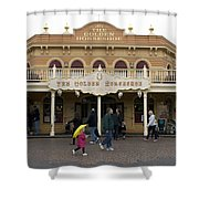 Golden Horseshoe Frontierland Disneyland Shower Curtain