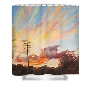 Golden Hour Shower Curtain