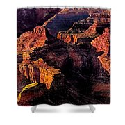 Golden Hour Mather Point Grand Canyon National Park Shower Curtain