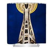 Golden Hour Tower Shower Curtain