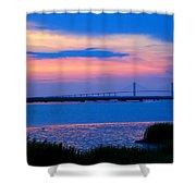 Golden Isles Bridge Shower Curtain