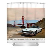 Golden Jaguar Shower Curtain
