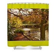 Golden Lake At Botanical Gardens Shower Curtain