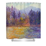 Golden Lake Gregory Shower Curtain