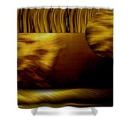 Golden Landscape Shower Curtain