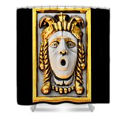 Golden Mask II Shower Curtain