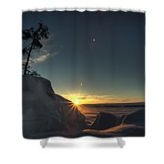 Golden Morning Breaks Shower Curtain