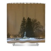 Golden Night Shower Curtain