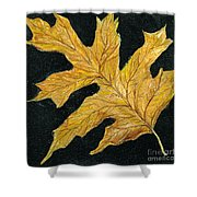 Golden Oak Leaf Shower Curtain