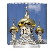 Golden Onion Domes - Church Yalta Shower Curtain