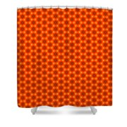 Golden Orange Honeycomb Hexagon Pattern Shower Curtain
