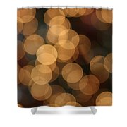 Golden Orbs Shower Curtain