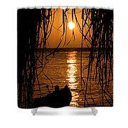 Golden Palapa Shower Curtain