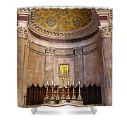 Golden Pantheon Altar Shower Curtain